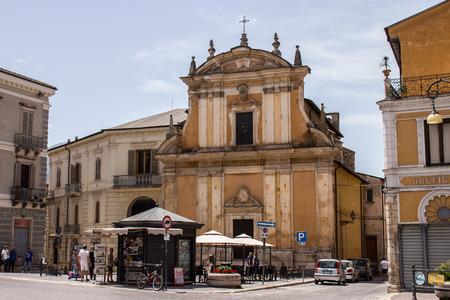 The church of the Madonna del Carmine, Sulmona, Abruzzo