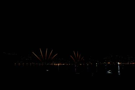 fireworks in Ischia on the feast of St. Anne on 26 July