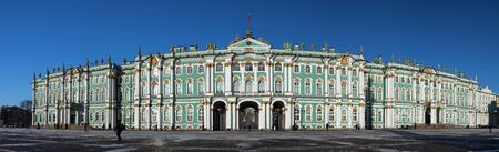 Panorama of the building of the State Hermitage in St. Petersburg. Petersburg