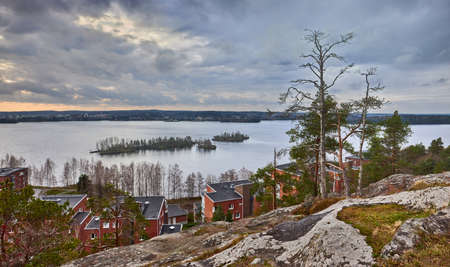 Viewpoint of Lake Pyhajarvi in Tampere.