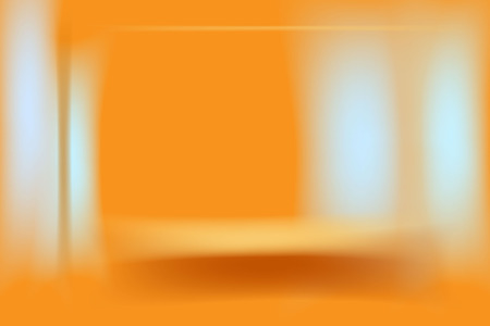light cold and ocher brown lines on orange background.abstract vector