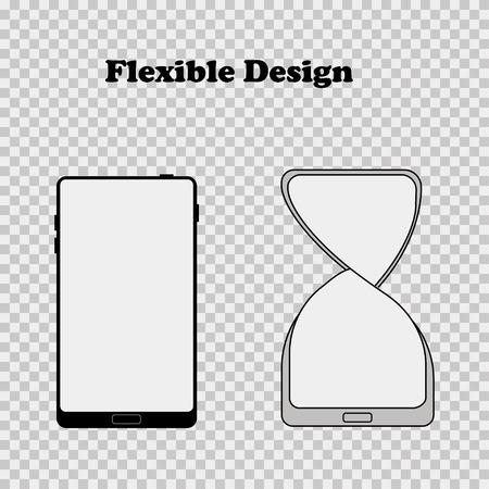 Illustration vectorielle pour la conception flexible design plat mobile EPS 10 Vecteurs