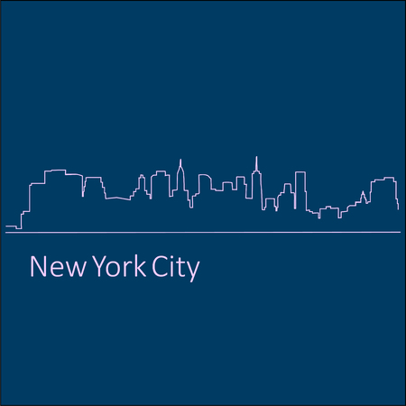 Illustration a City New York vector Illustration