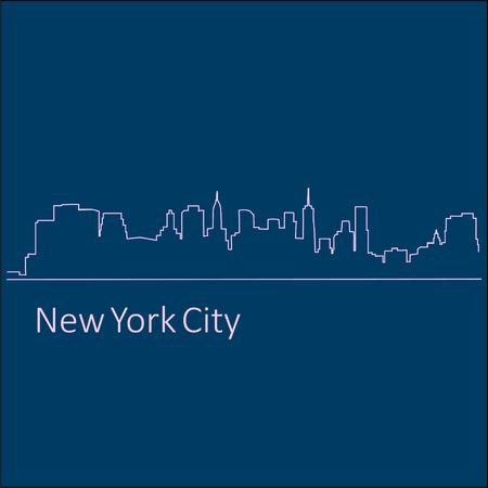 Logotype or Illustration a City New York vector Illustration