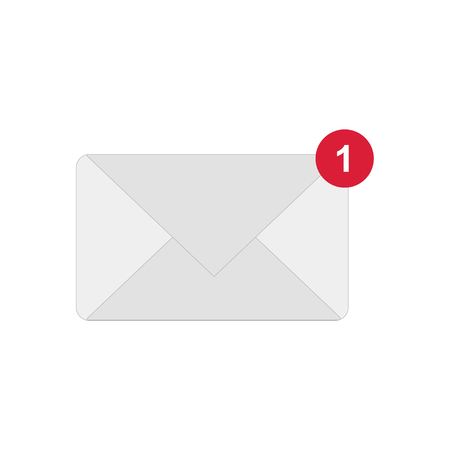 Illustration for new messege or letter vector icon