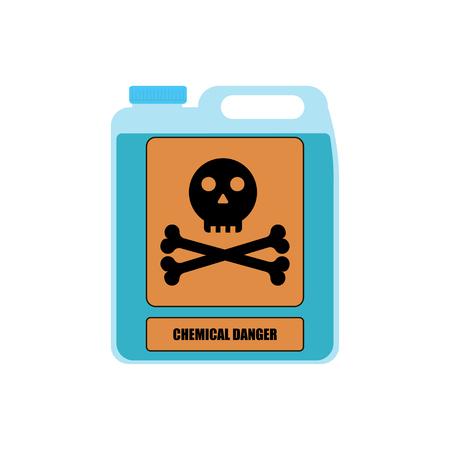 Vector illustration for bottle with substance chemical danger Vetores