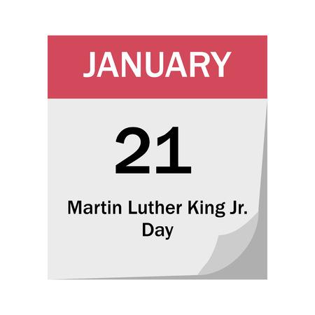 Illustration for calendar vector flat design celebrate MLK