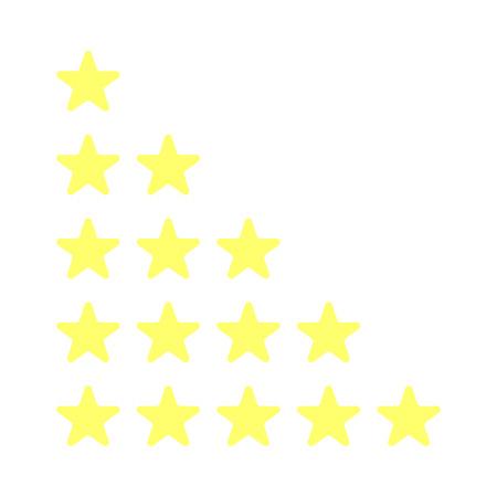 Vector illustration 5 stars yellow stars best place Reklamní fotografie - 119650630