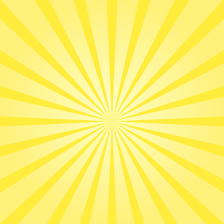 Vector sunburst sunshine texture yellow color background sunbeam