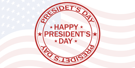Vector illustration celebration Presidents day flag America red symbol national holiday