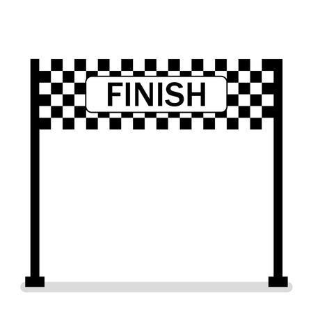 Banner beenden. Symbol der Meisterschaft. Erfolgreiches .Racing-Symbol. Ziellinie. Flaches Design. EPS 10.