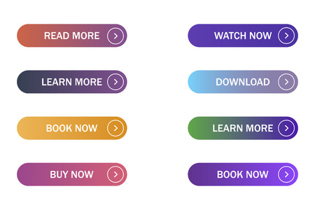 Set of colored buttons for web in few trendy gradients isolated EPS 10. Reklamní fotografie - 119650806