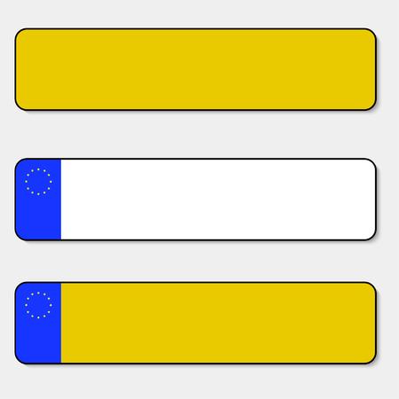 Kennzeichen Fahrzeugkennzeichen von Europa und Großbritannien Großbritannien mit Schatten Unia of Europe. EPS 10