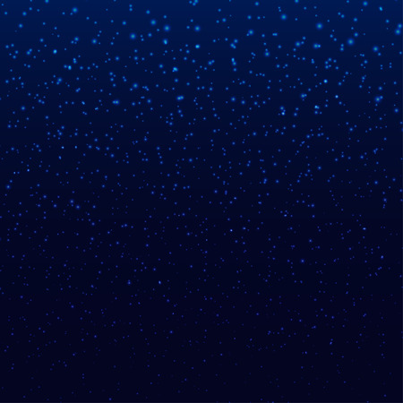 Blue dark sky with stars or snowflakes beauty wallpaper pattern holiday EPS 10