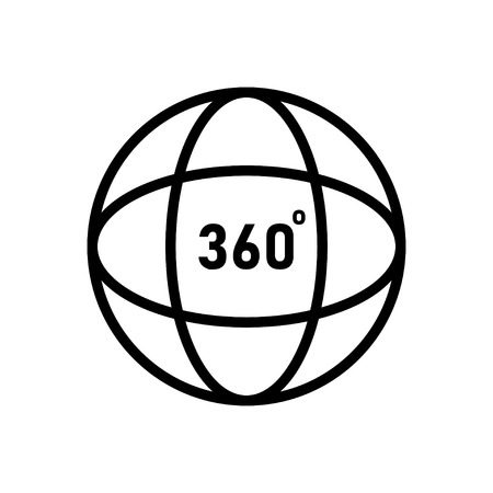 360 degrees angel sign. simple icon ful rotation.Geometry math on white background. EPS 10 Illustration