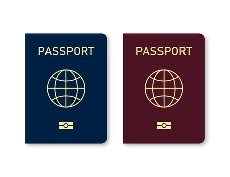International passport isolated on white background. Travel document. World immigration. EPS 10