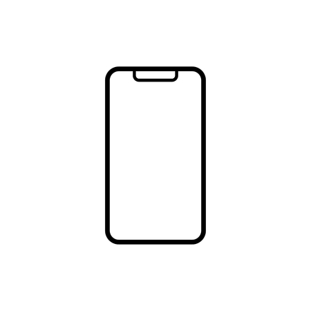 Smartphone icon isolated. mobile sign for websites or application button. EPS 10