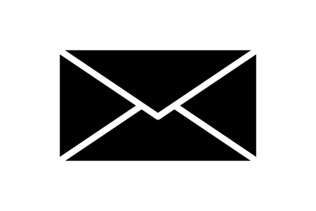 E-mail mail icon isolated envelope or message element button or symbol. EPS 10 Çizim