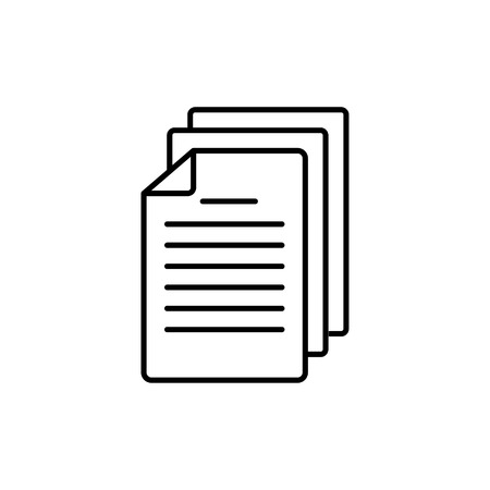 Document icon. Paper contract or papers isolated. Sign of agreement or simple symbol paperwork. EPS 10 Ilustração