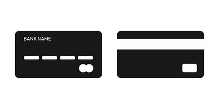 Bank cards isolated pay or financial transaction sign. Payment element. Plastic card icons. EPS 10