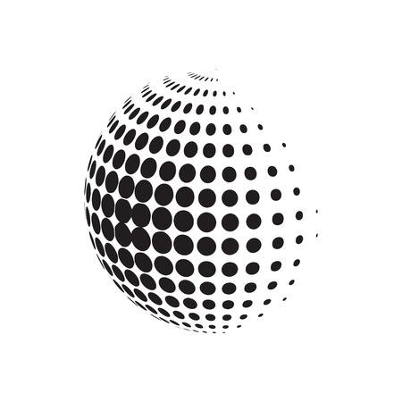 Círculo de semitonos con dotts. Plantilla de elemento radial punteado. EPS 10