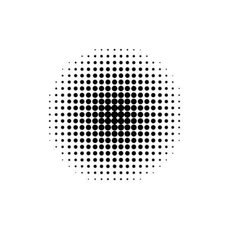 Kreis geometrischer Halbton. Verlaufselement. Retro abstrakte Dekoration. Vintage-Tapete. EPS 10