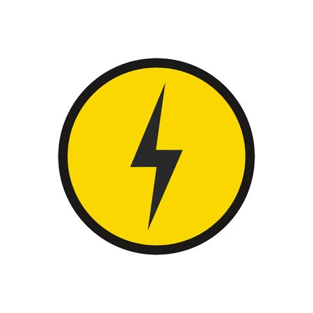 Power icon. Electric sign with circle isolated. Vectores