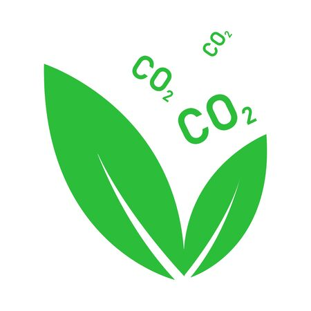 Plant CO2 isolated icon. symbol of ecology. Leafs with gas.