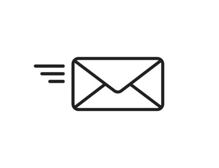 Mail flying icon. Sending mail sign
