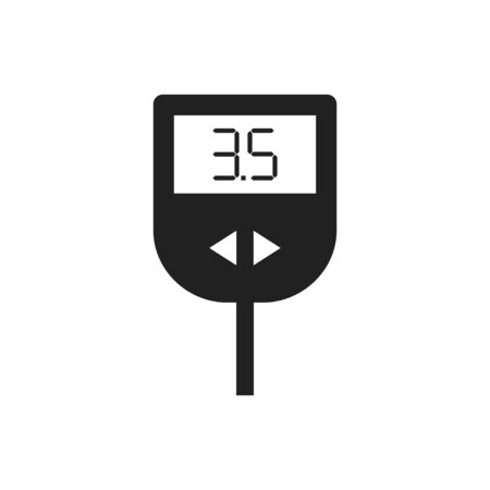 Glucose meter isolated flat icon. Level of sugar in blood.