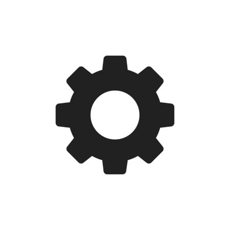 Settings isolated icon. Gear symbol. Gear tool or button for web application or UI.