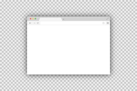 Browser window vector isolated in trendy flat design. Vector page template. Mock up website interface. Global network.
