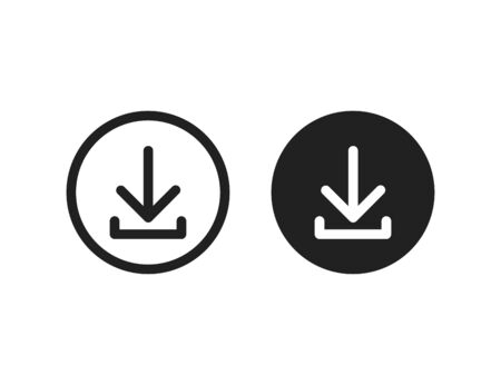 Download vector icon install symbol. Simple flat isolated vector illustration or sign for web site or mobile app.  イラスト・ベクター素材
