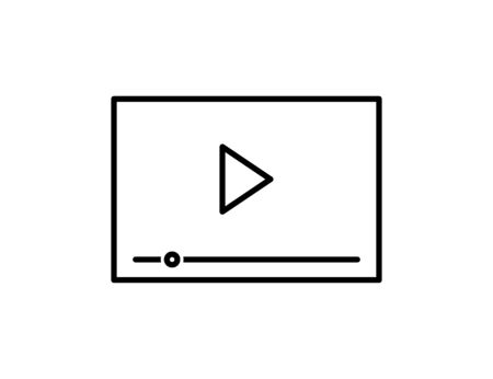 Media player icon in trendy flat style design. Vector graphic illustration.