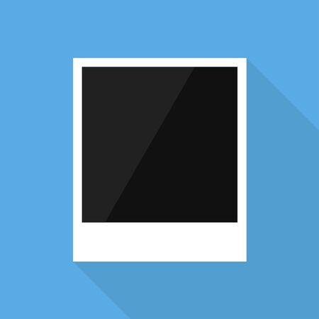 Photo frame for banner design in trendy flat style. Blank photo frame. Photo portrait frame. Sticker design.