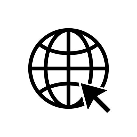 Web icon. WWW sign. Search www vector icon. Web hosting technology. Globe hyperlink icon. Isolated vector. Browser search website page. EPS 10