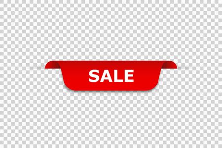 Sale banner. Isolated vector web banner on transparent background. Discount banner design. Advertising sign. Sale banner template background big sale special offer.