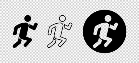 Runner icon. Sportsman, athlete silhouette illustration vector. Runner concept. Isolated vector sign symbol. Graphic vector illustration. Jogging people. Sport concept. EPS 10