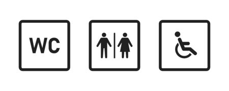 Toilet icon vector isolated. Female washroom sign. WC sign icon. Restroom sign. Illustration
