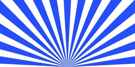 Modello astratto vintage con raggi di sole blu su sfondo chiaro. Fondo astratto di luce solare. Carta da parati a forma di stella. Sfondo luminoso retrò. EPS 10