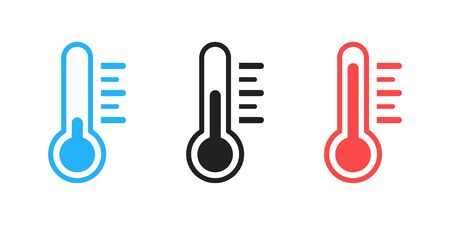 Thermometer isolated vector icon . Weather icon with different levels. Measuring tool. EPS 10 向量圖像