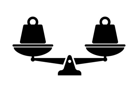Scale vector isolated icon. Symbol weight balance. Heavy kettlebell. Heavy equipment.