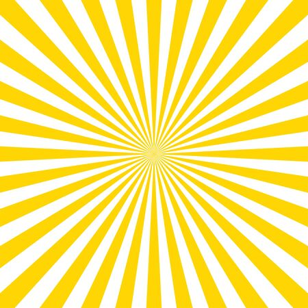 Sunburst pattern vector background. Vector isolated illustration. Sunburst vintage style. Yellow vector rays. EPS 10