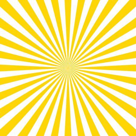 Fond de vecteur modèle Sunburst. Illustration vectorielle isolée. Style vintage Sunburst. Rayons de vecteur jaune. EPS 10