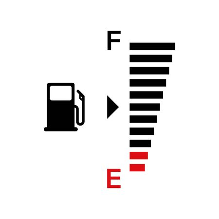 Fuel gauge indicator. Vector isolated illustration icon. Gasoline indicatior vector collection icons. Gas meter set elements. EPS 10