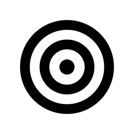 Target icon isolated on white background. Vector isolated black icon. Goal concept icon. EPS 10
