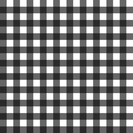 Black gigham pattern vector seamless square design background. Abstract tablecloth black for wallpaper. Abstract grid. EPS 10