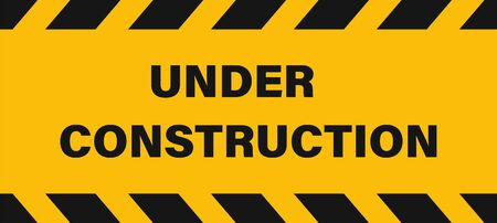 Under construction industrial sign or banner. Seamless Vector tape illustration. Construction background. Traffic warning road sign