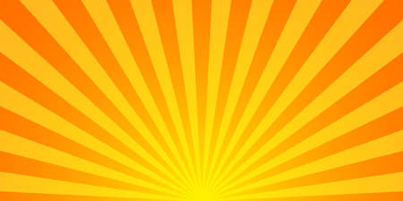 Sunburst pattern vector background. Vector isolated illustration. Sunburst vintage style. Yellow vector rays. EPS 10