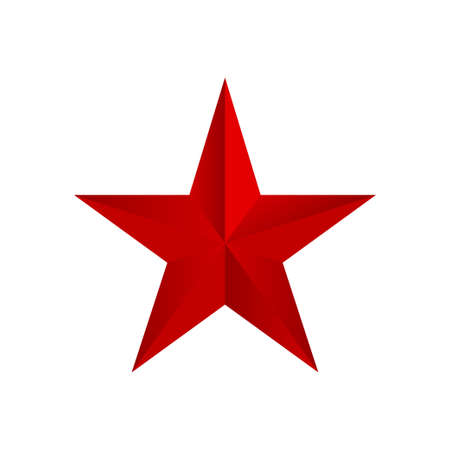 Red star. Vector isolated illustration. Communism design element. 矢量图像